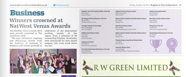 Natwest Venus Awards Winners 2014